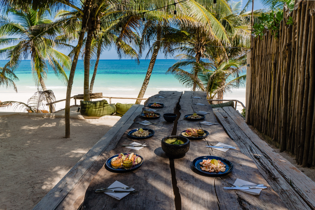 Lunch by the Caribbean Sea