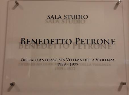 Intitolazione sala studio Centro Polifunzionale a Benedetto Petrone
