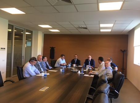 Il Rettore Uricchio con il Nucleo di Valutazione dell'UNIBA in visita presso l'Università di Tirana