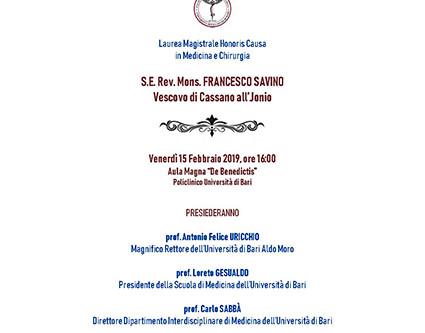 Laurea Honoris Causa a Mons. Savino