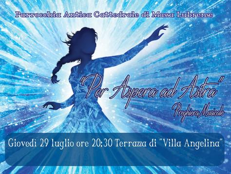 """Preghiera Musicale Giovedì 29 luglio ore 20:30 - Terrazza di """"Villa Angelina"""""""