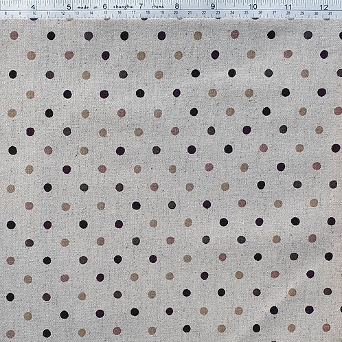 Natural Spot Linen - Natural with Earth Spot