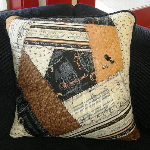 Crazy Patch Cushion pattern