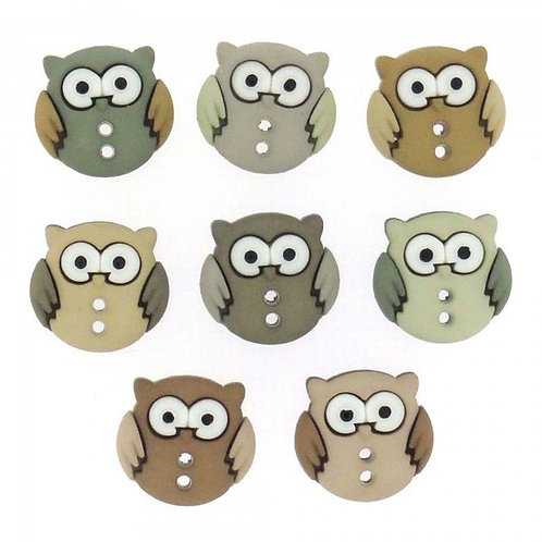 Sew Cute Owls Button Pack