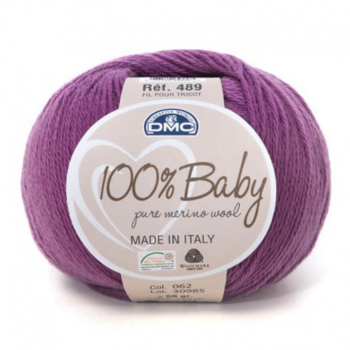 Purple 62 Baby Merino Yarn
