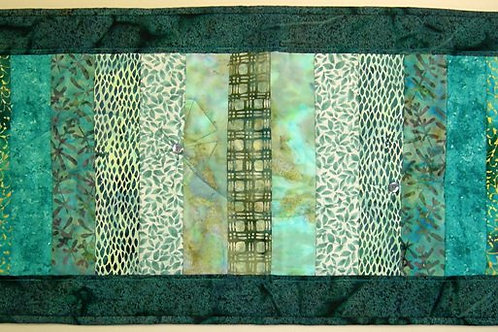 Shades of Teal Table Runner pattern