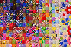 Patchwork quilt. Part of patchwork quilt