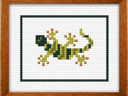 Gecko Counted Cross Stitch Kit - NZ Designer