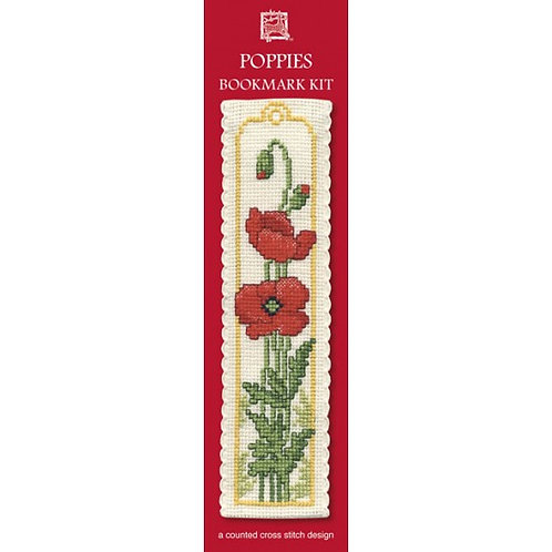 Poppies Bookmark Kit - Textile Heritage