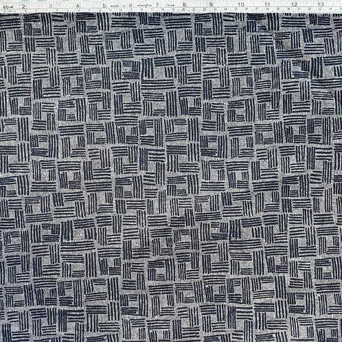 Kaufman Linen Forage - Indigo Abstract Check