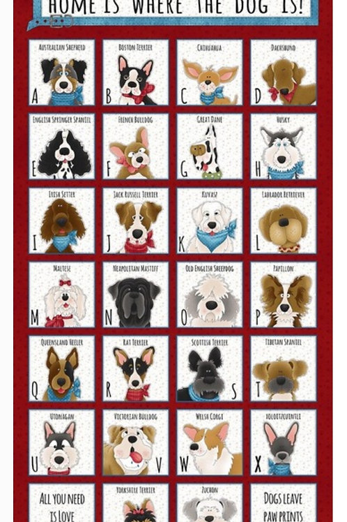 Home is Where the Dog is - Panel (60cm)