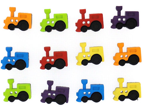Sew Cute Trains Button Pack