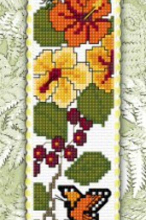 Monarch & Hibiscus Bookmark Kit - NZ Designer