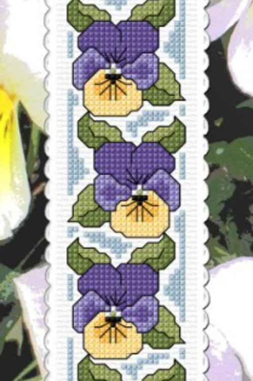 Pansies - Thought Bookmark Kit - NZ Designer