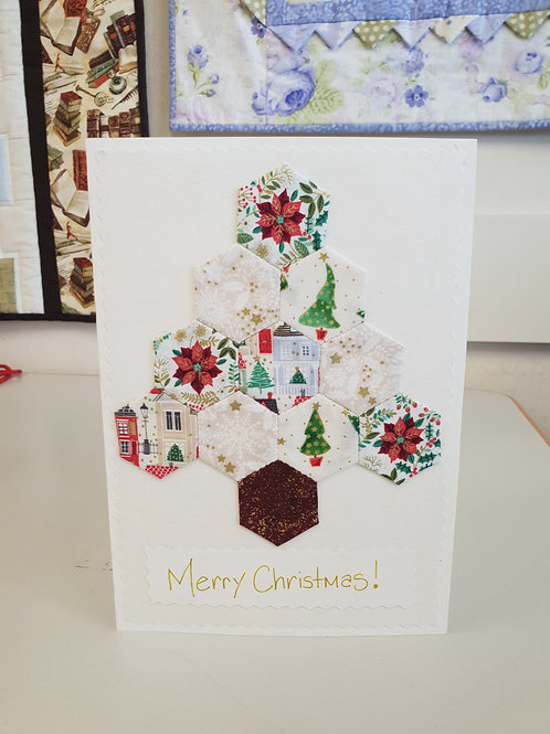 English Paper Piecing (EPP) Christmas Card