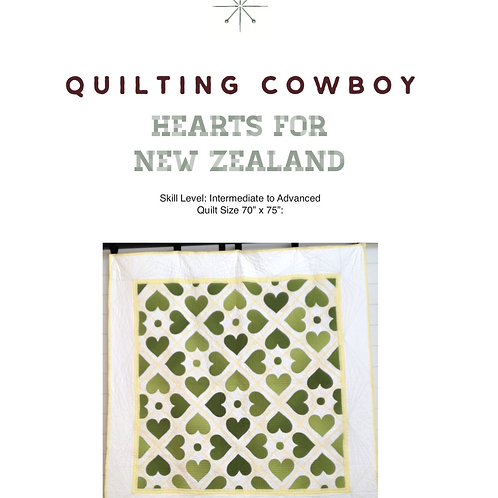 Hearts for New Zealand Pattern