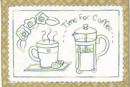Time for Coffee Mug Rug Pattern