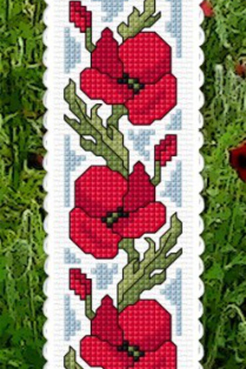 Poppies - Remembrance Bookmark Kit - NZ Designer