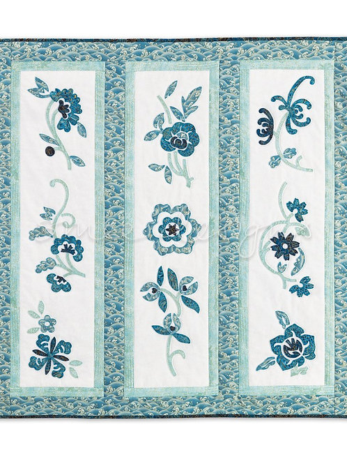 China Blue Floral Hanging