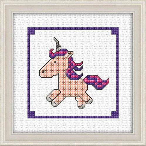 Unicorn Pink Counted Cross Stitch Kit