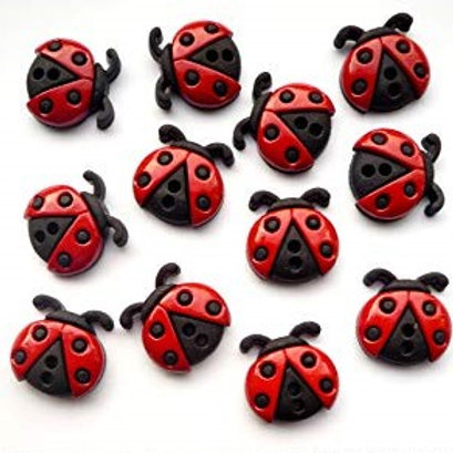 Sew Cute Ladybugs Button Pack