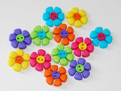 Sew Cute Flowers Button Pack