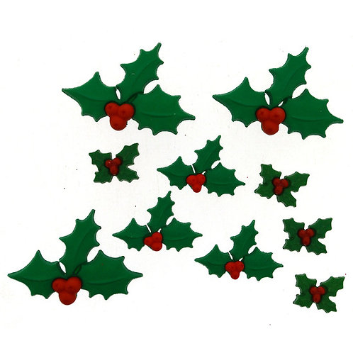 Holly Jolly Christmas Button Pack