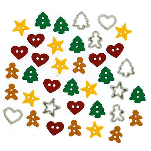 Itty Bitty Cut Out Cookies Button Pack