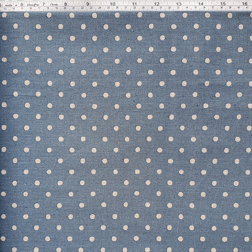 Natural Spot Linen - Blue with Natural Spot