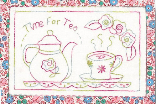 Time for Tea Mug Rug Pattern