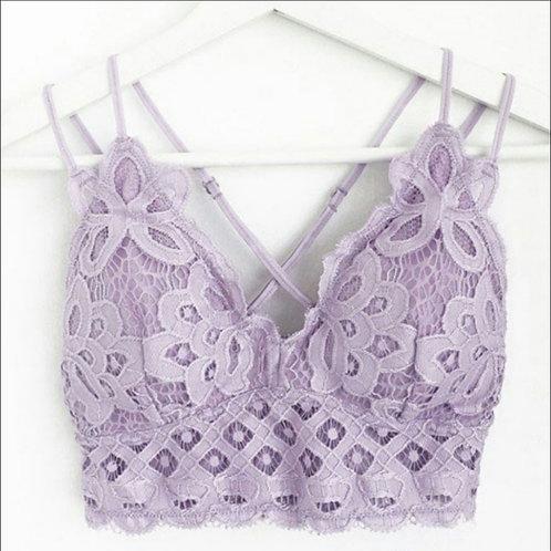 Lilac Boho-inspired Bralette