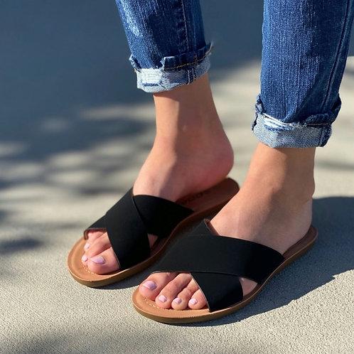 Hailey Black CrissCross Sandal