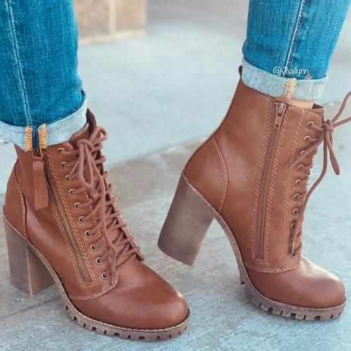 Alana Brown Combat boot