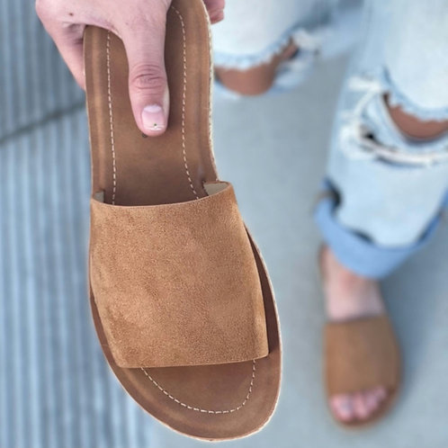 San Diego Camel Slip on Espadrille sandal
