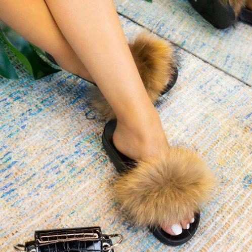 Furry Slip ons