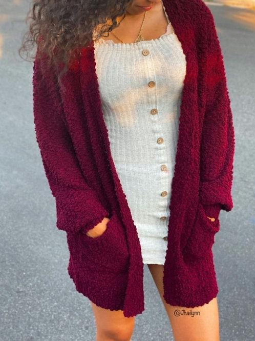 Jessica Burgundy Cardigan