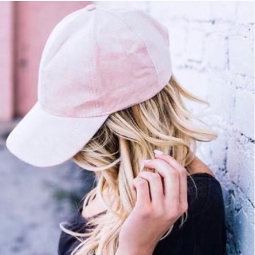 Suede blush hat