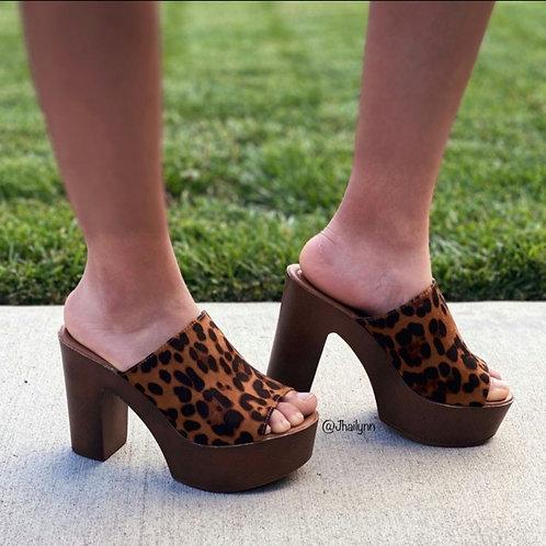 Jackie Peep Toe Clog Mule