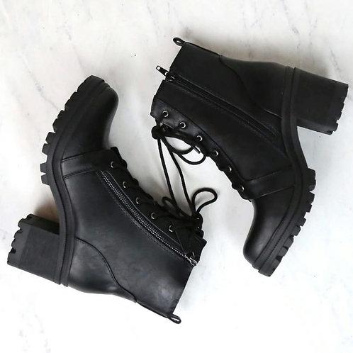 Maliyah Black Combat Boot