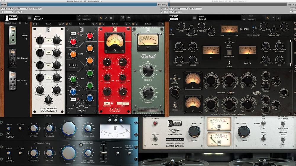Плагины Slate Digital в студии звукозаписи Nerv-Records.