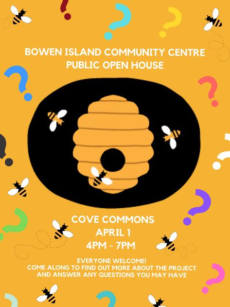 Community Centre Open House - April 1st