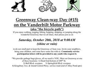 15th Semi-Annual Greenway Clean-Way Day