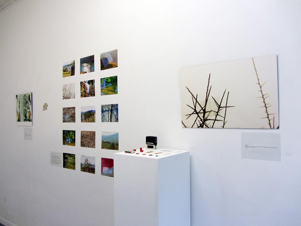 vue de l'exposition. Piano card piece, installation photographique pour piano.
