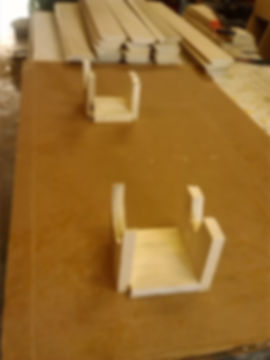 Wood stands to hold the boards