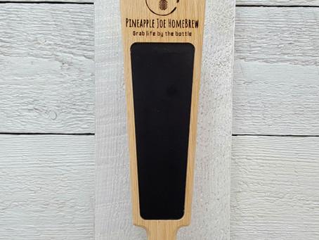 Custom logo beer tap handle for homebrewer