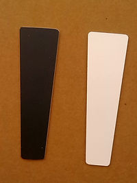 Chalkboard and white dry erase tap handle insert
