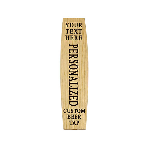 Personalized Tapered Barrel Stave Beer Tap Handle. For taproom, bar, coffee shop