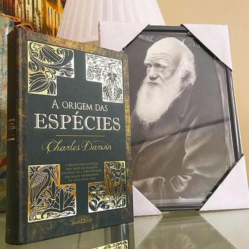 RÉPLICA EMOLDURADA Charles Darwing