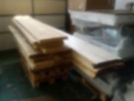 Kiln dryed rough lumber for railing