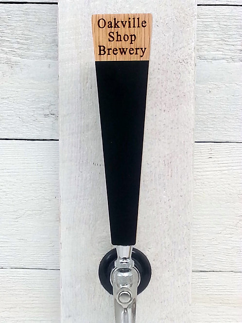 Custom engraved personalized beer tap handle with chalkboard